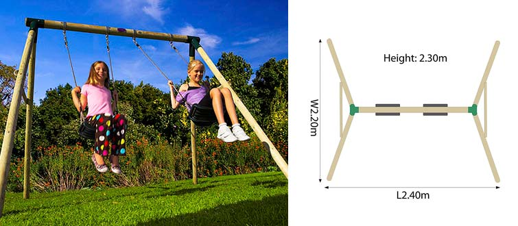 backyard adventures are the most competitive supplier of swings and